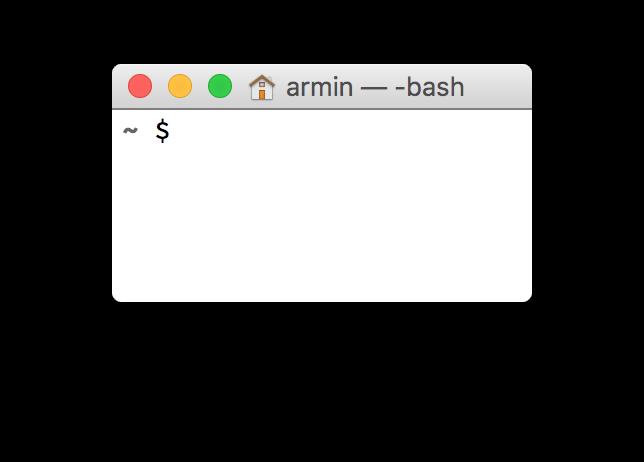Minimal Terminal Prompt – Scripting OS X